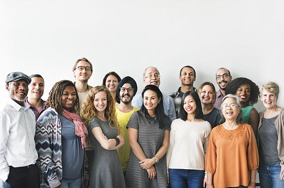 Diverse people of different heights and other traits