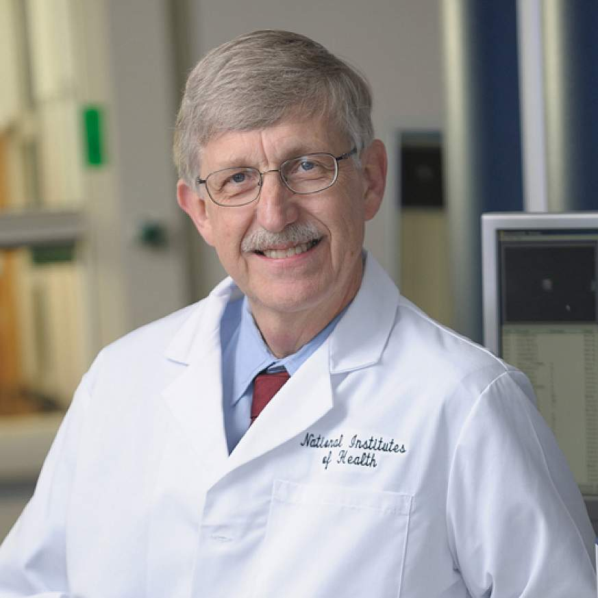 Dr. Francis Collins in a lab.