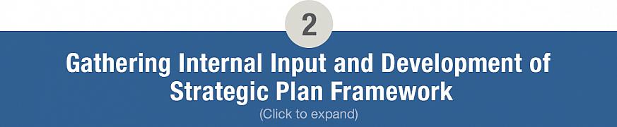 Gathering Internal Input and Development of Strategic Plan Framework