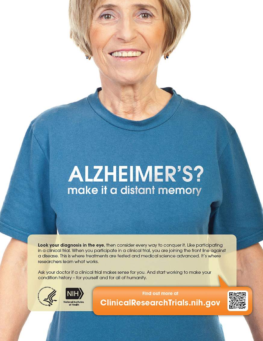 """""""Alzheimers? Make It a Distant Memory."""" poster"""