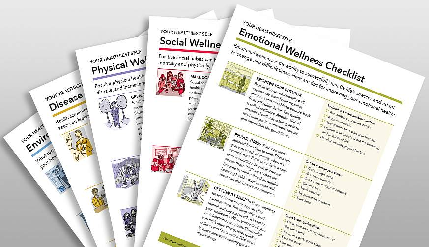 A sampling of wellness toolkits