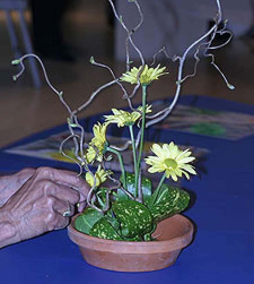 A Japanese flower arrangement