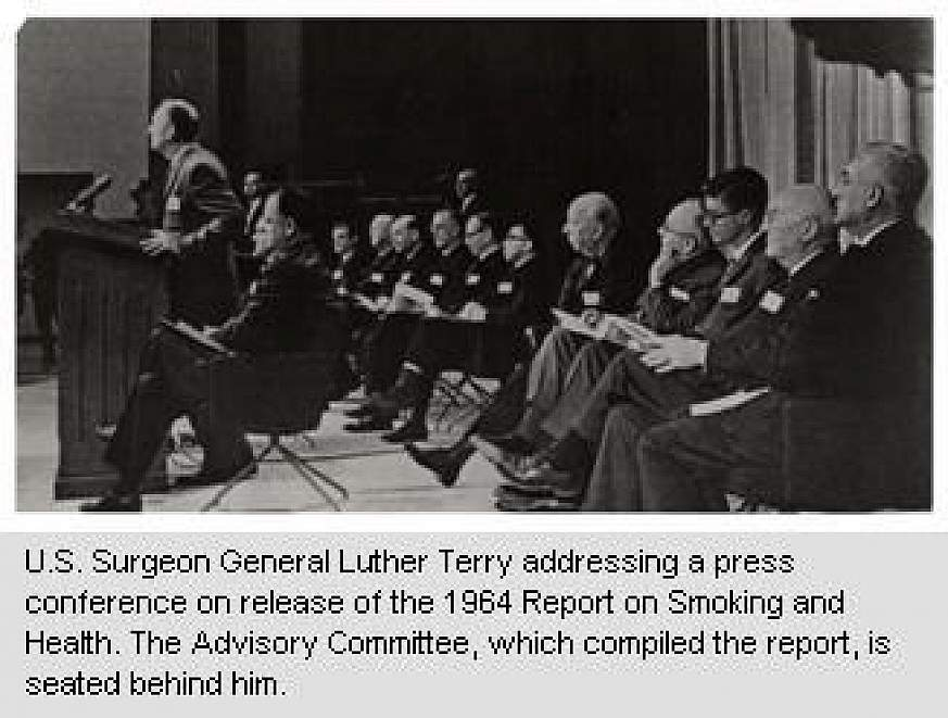 Archive photo of the U.S. Surgeon General, Luther Terry.