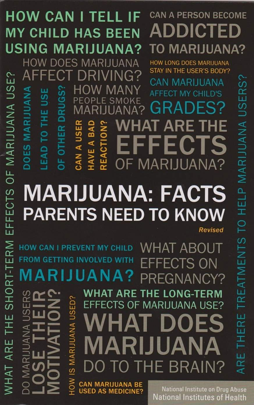 Tag cloud centered around marijuana.