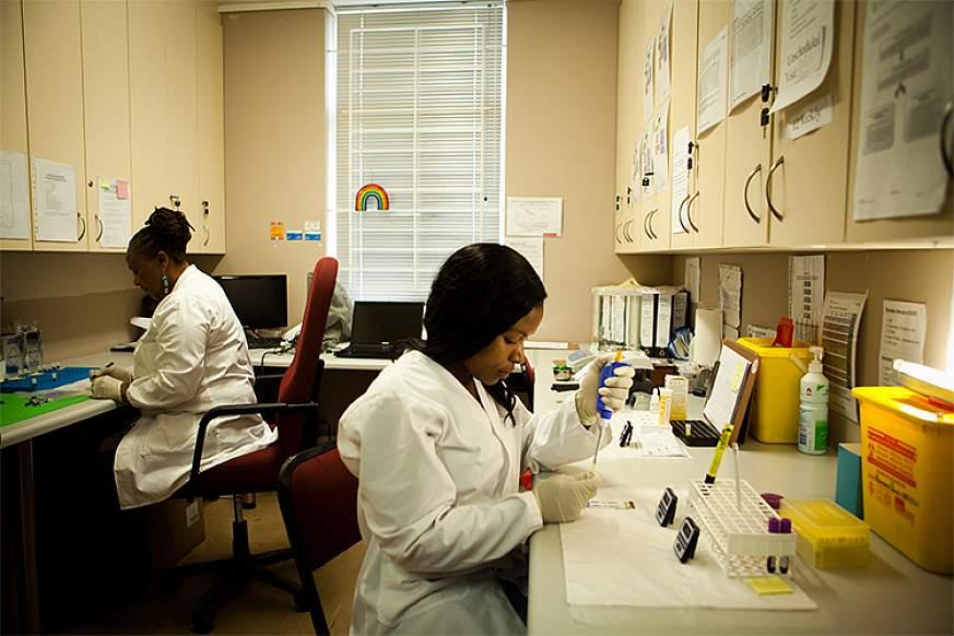 Image of laboratory staff