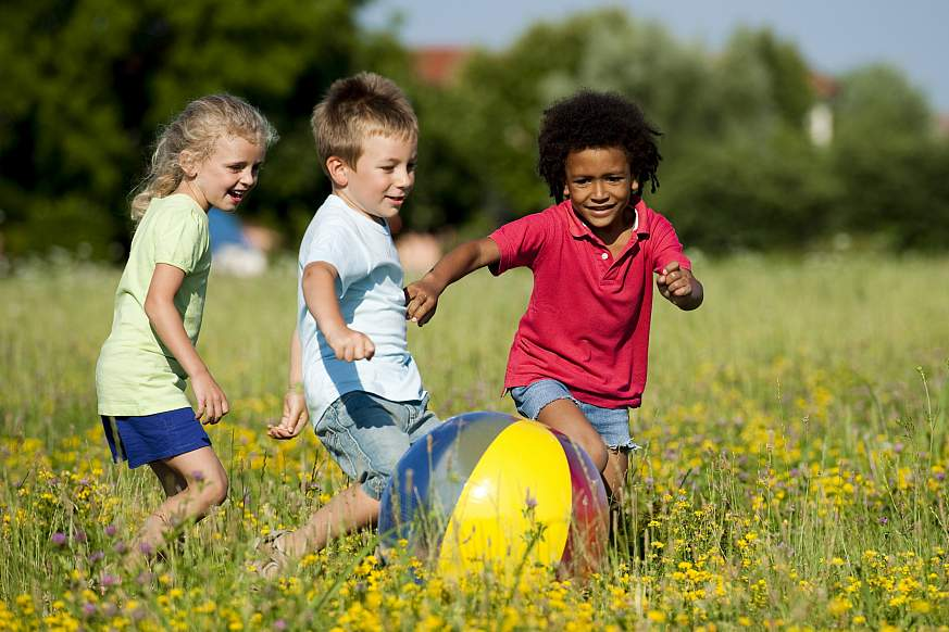 Image of children playing with a ball