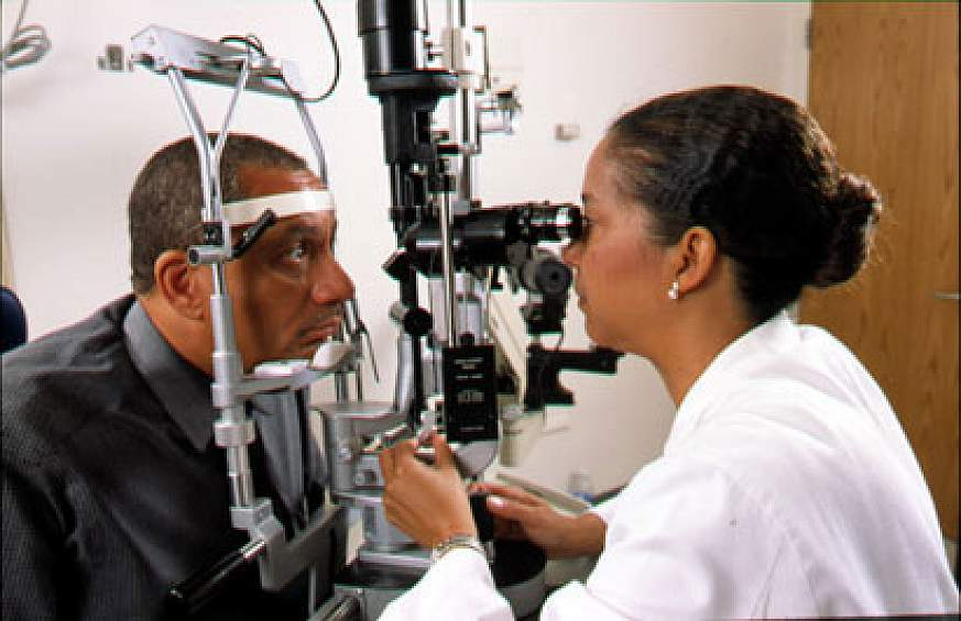 Image of an eye exam