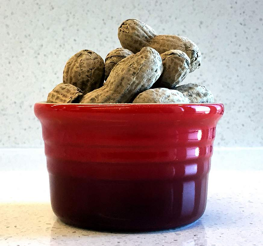 Image of a bowl of peanuts.