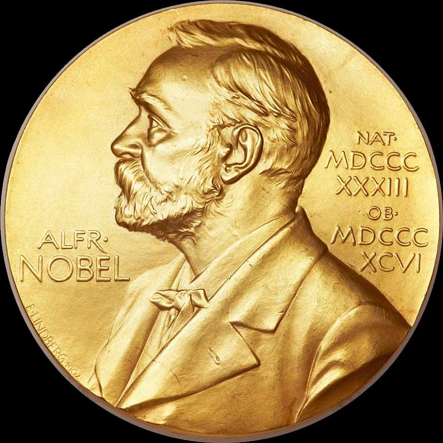 The Nobel Prize medallion, copyright Nobel Foundation.
