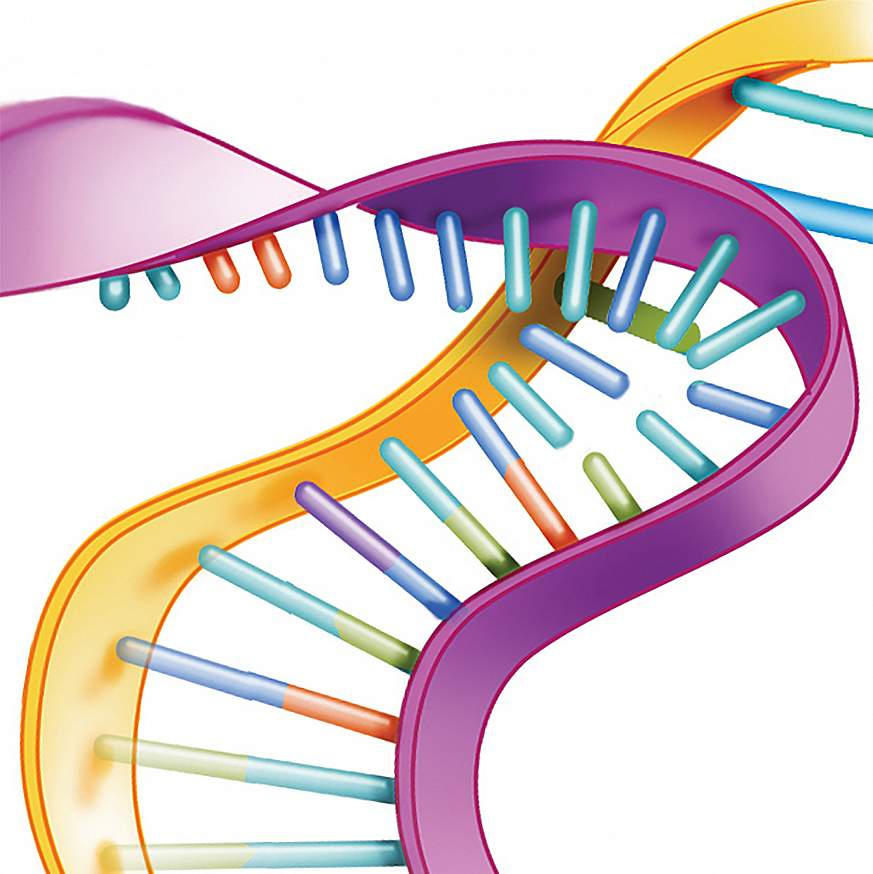 Illustration of a silenced gene