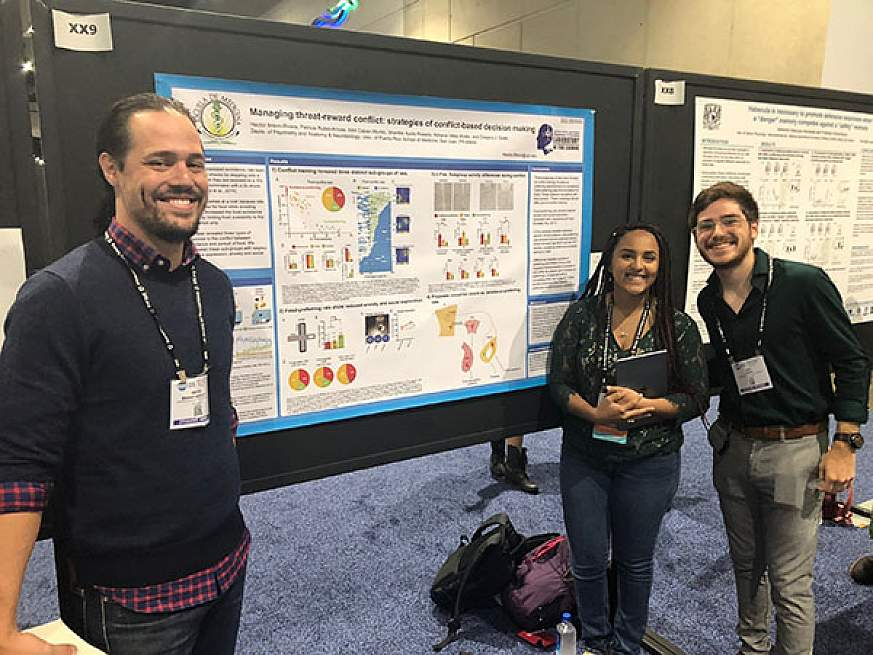 Image of trainees at a poster session.