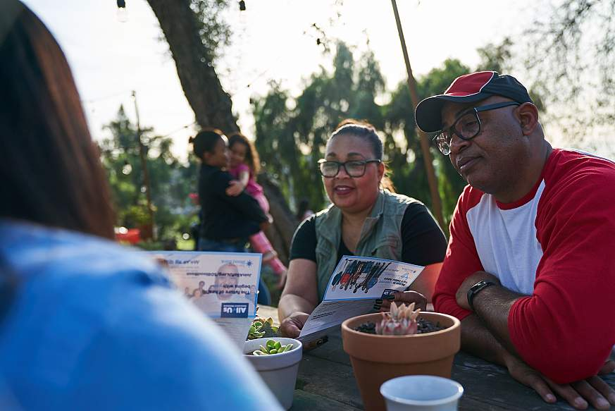 Image of attendees at a community event