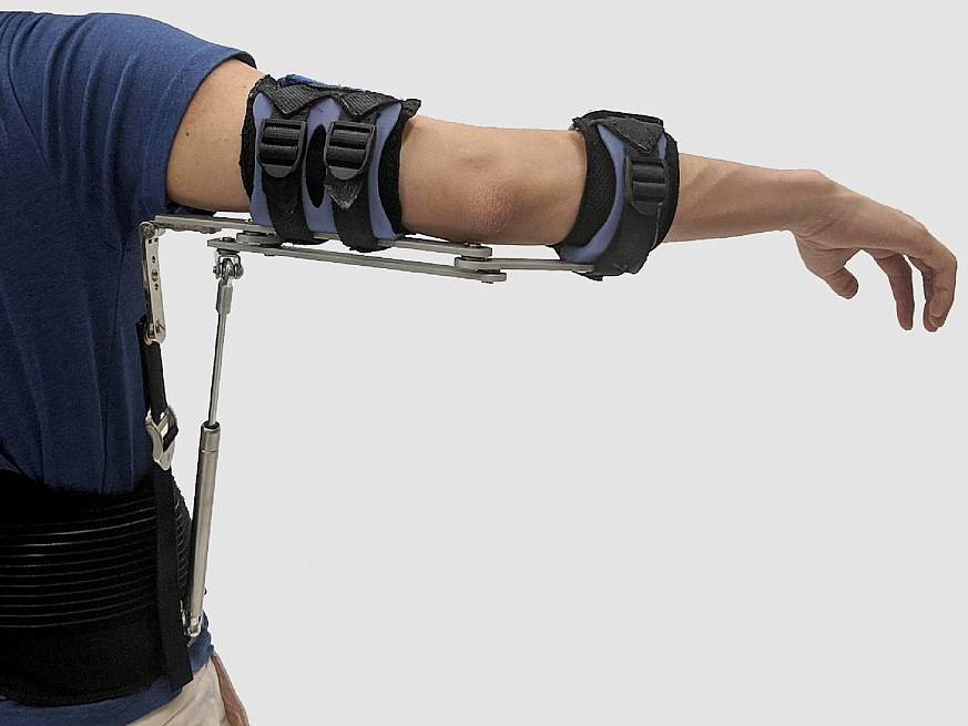 An image of an arm exoskeleton