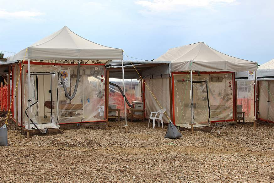 Ebola treatment center (ETC) in Beni, Democratic Republic of the Congo.