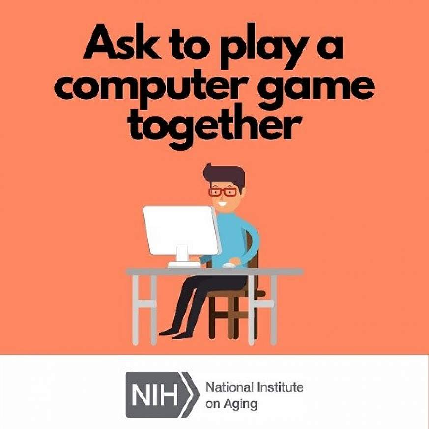 Ask to play a computer game together