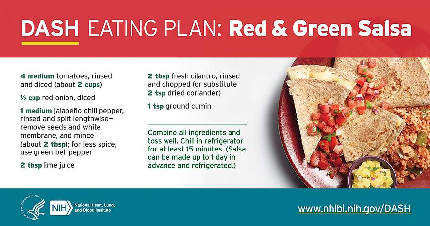 DASH Eating Plan: Red & Green Salsa Recipe