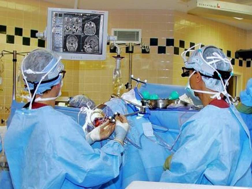 Image-guided brain surgery.