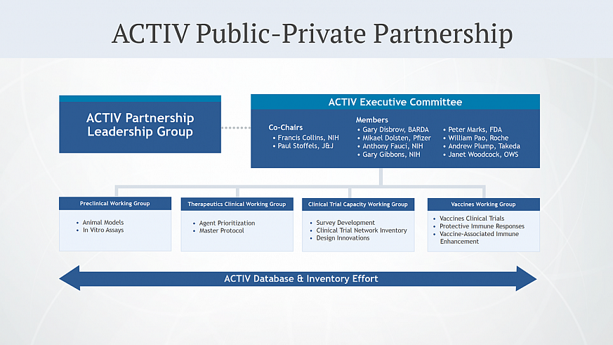 ACTIV Public Private Partnership organization chart