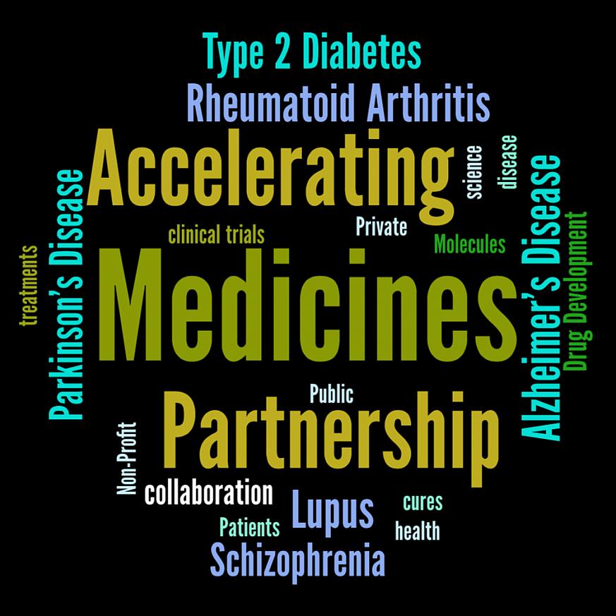 Accelerating Medicines Partnership Word Cloud