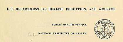 NIH report cover, 1959