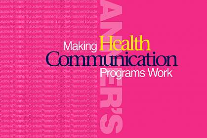 Cover shot of Making Health Communication Programs Work (The 'Pink book')