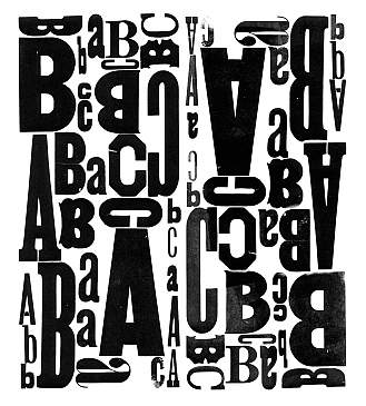 The letters A, B, and C repeated in a block pattern.