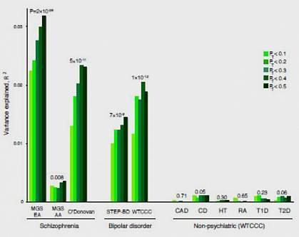 Schizophrenia/bipolar disorder genetic overlap