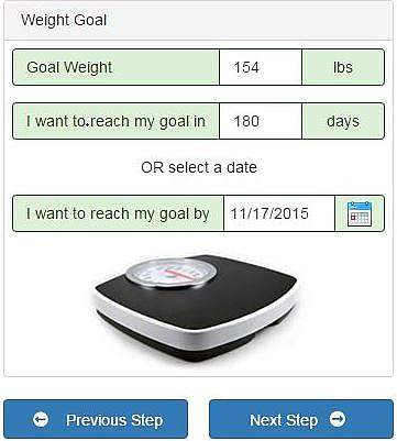 Body Weight Planner screen shot