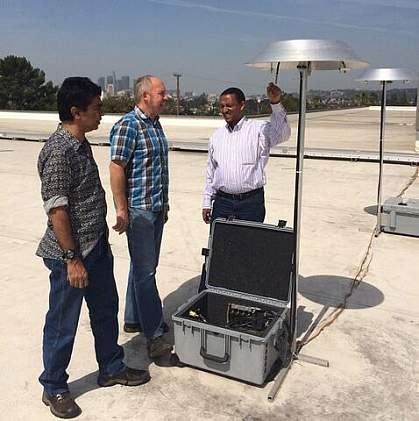 Image of rooftop air quality testing