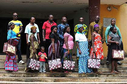 Image of couples receiving HIV education in Africa