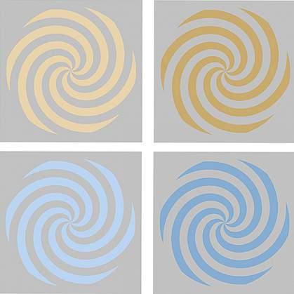 Illustration of different spiral color stimuli