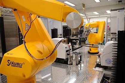 Photo of advanced equipment used for ultra-high throughput screening