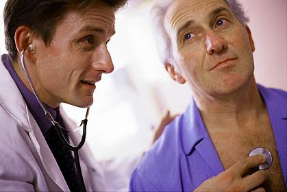 Picture of a doctor with heart patient