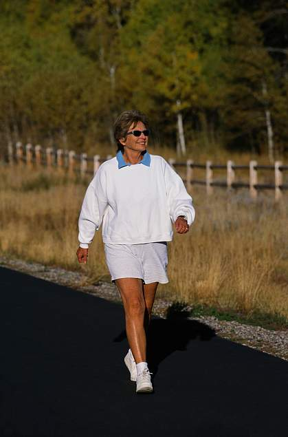 Picture of a senior woman walking