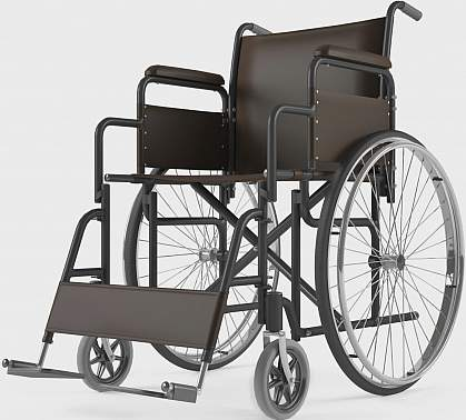 Picture of an empty wheelchair