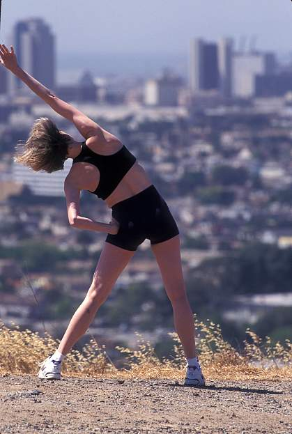 Picture of a woman excercising