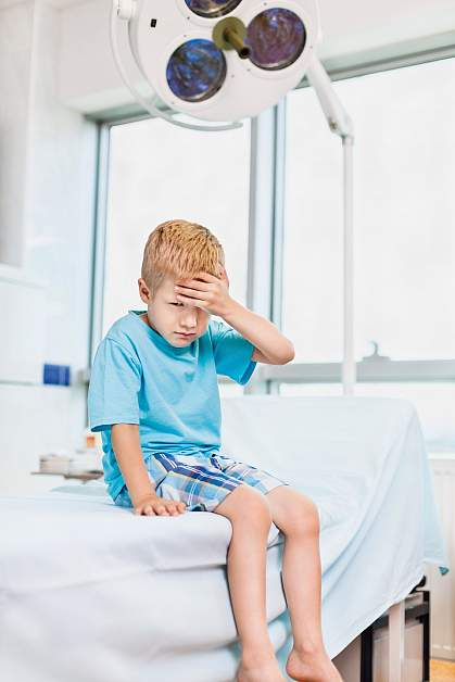 Photo of a young boy at the doctor