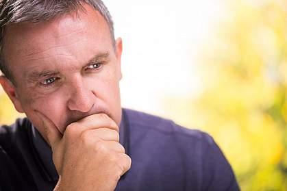 Photo of a depressed man