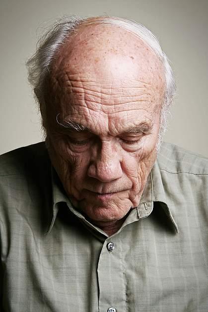 Depessed older gentleman