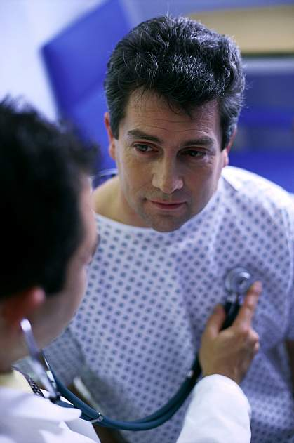 a photo of a man having a consultation with his doctor