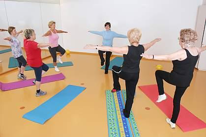 Photo of older women exercising