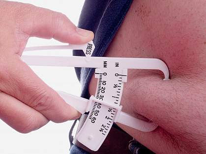 photo of calipers measuring fat