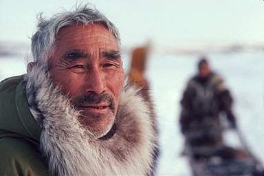 Photo of an older Native American Eskimo man
