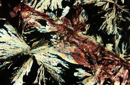Image of multicolored crystals
