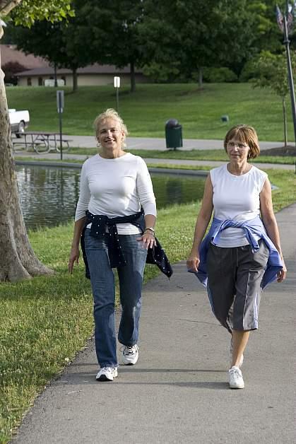 Photo of two women walking