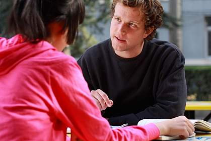Photo of a young man talking