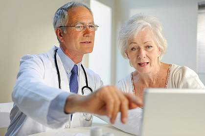 Photo of a doctor with a patient