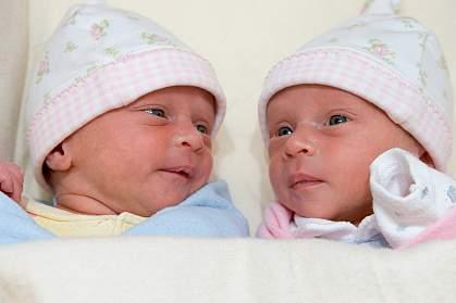 Photo of twin infants