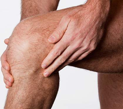 Photo of a man's knee