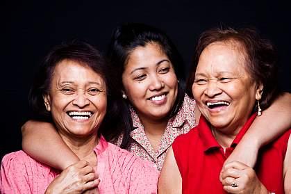 Photo of three Asian women